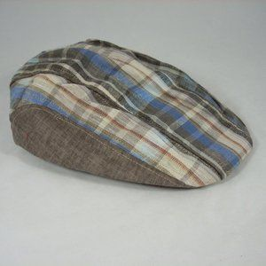 Dorfman Pacific Driving cap Flat Hat cotton Plaid